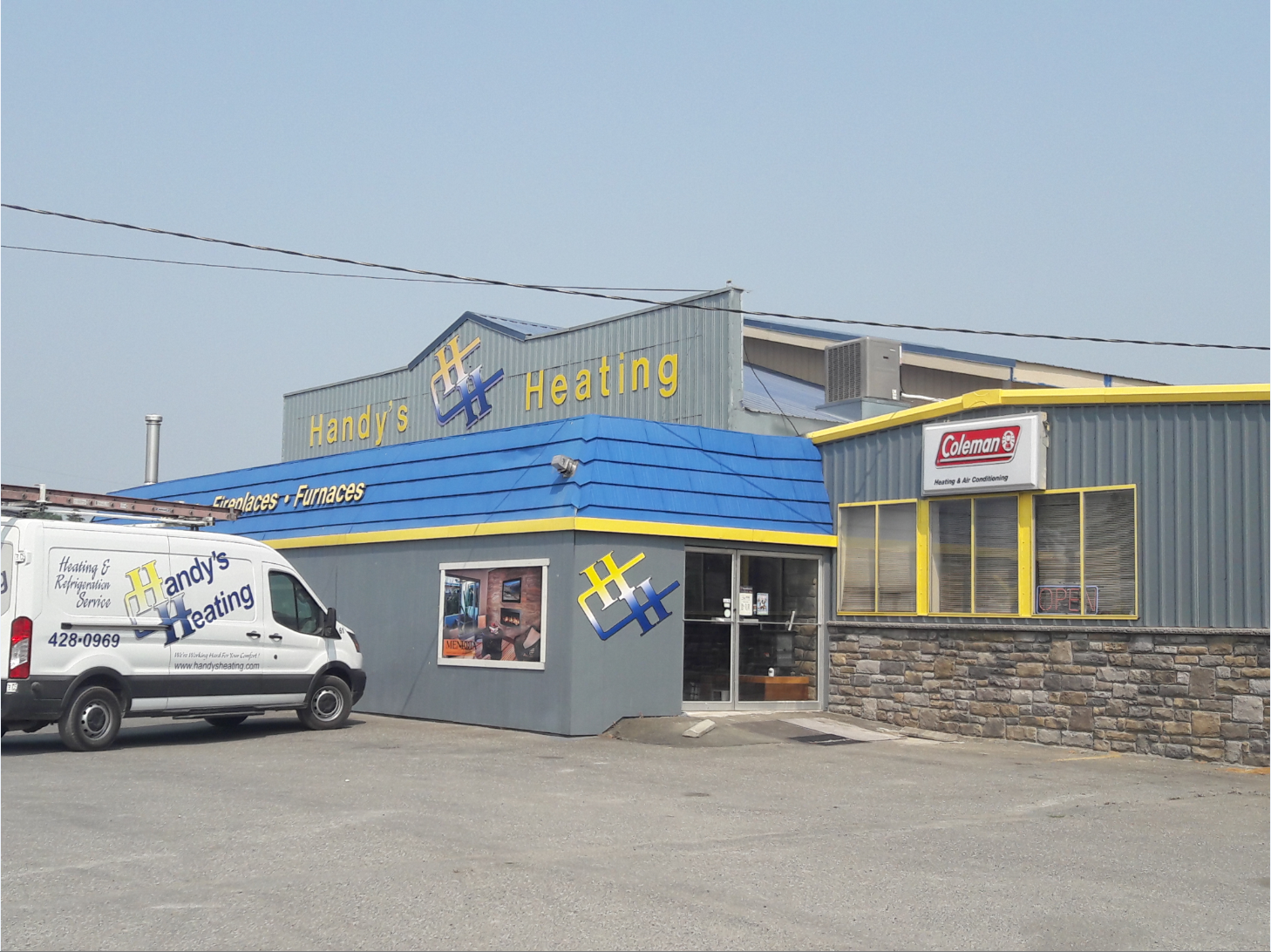 Handy's Heating, Inc. Building or Showroom