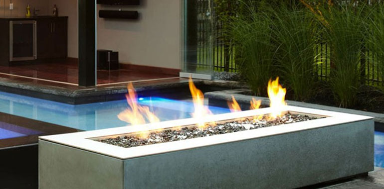 We love fire fireplaces grills and solar energy information for Outdoor modern fire pit