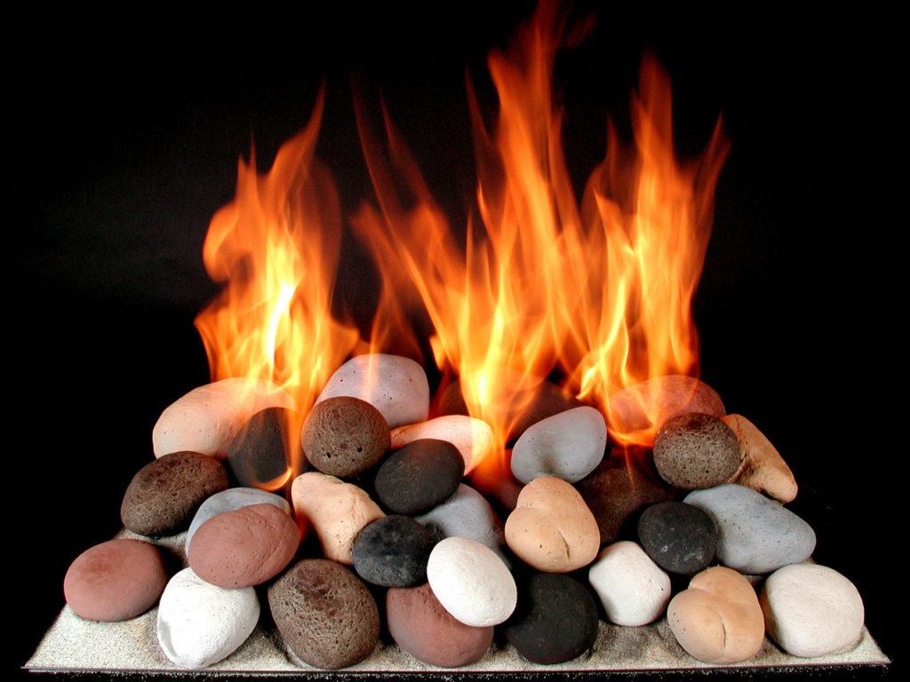 24'' Vent-Free Firestones by Rasmussen