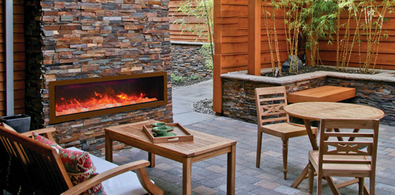 Outdoor Fireplaces We Love Fireplaces And Grills - Electric outdoor fireplace