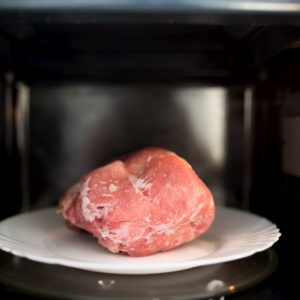 Four ways to defrost meat