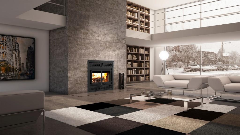FP 15 Waterloo, new Valcourt wood-burning fireplace