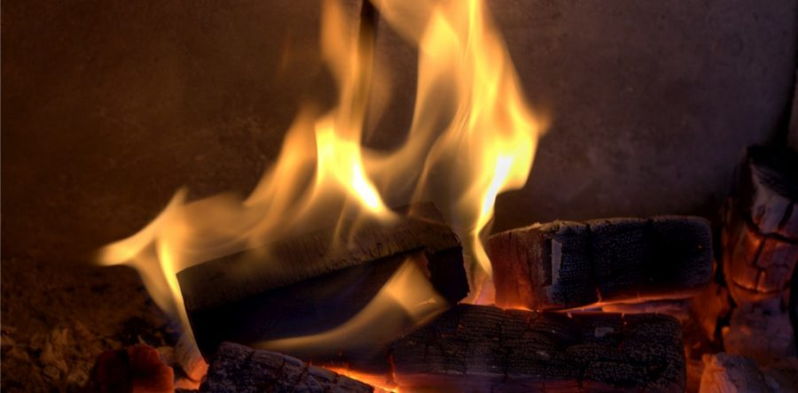 How A Gas Fireplace Is Converted To Wood Burning Unit