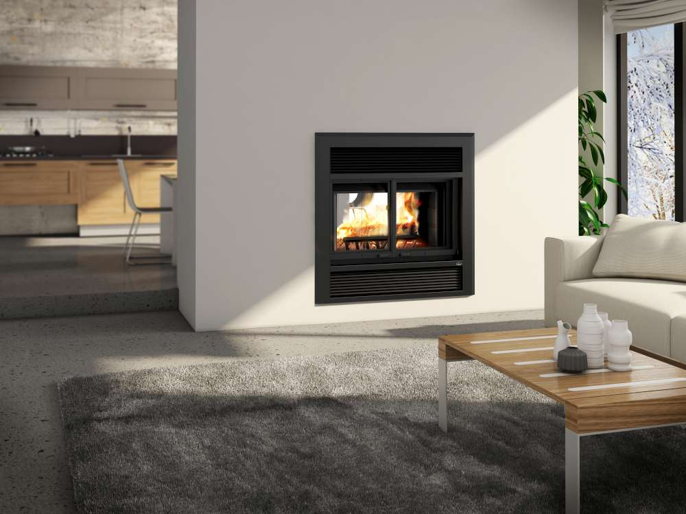 Valcourt Westmont wood-burning fireplace makes a good ally for power outages.