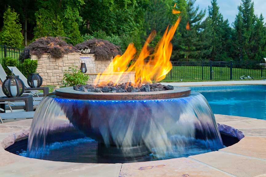 Foyer extérieur Evolution Fire and Water de HPC