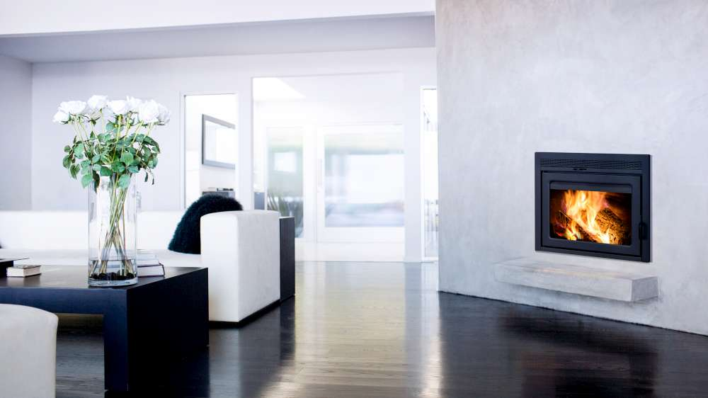 Zero-clearance contemporary Supreme galaxy fireplace living room