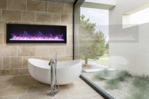 Panorama Series Extra Slim Electric Fireplace by Amantii