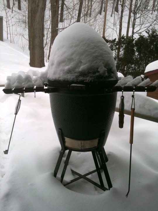 Store your grill outside in winter to prevent rust formation.