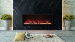 Series Extra Tall Electric Fireplace by Amantii