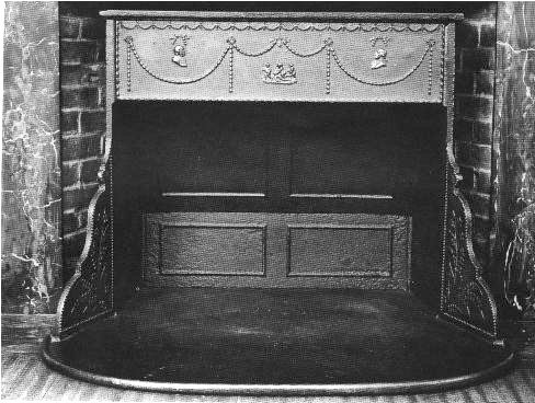 """Franklin Stove"", the predecessor to modern fireplace inserts."