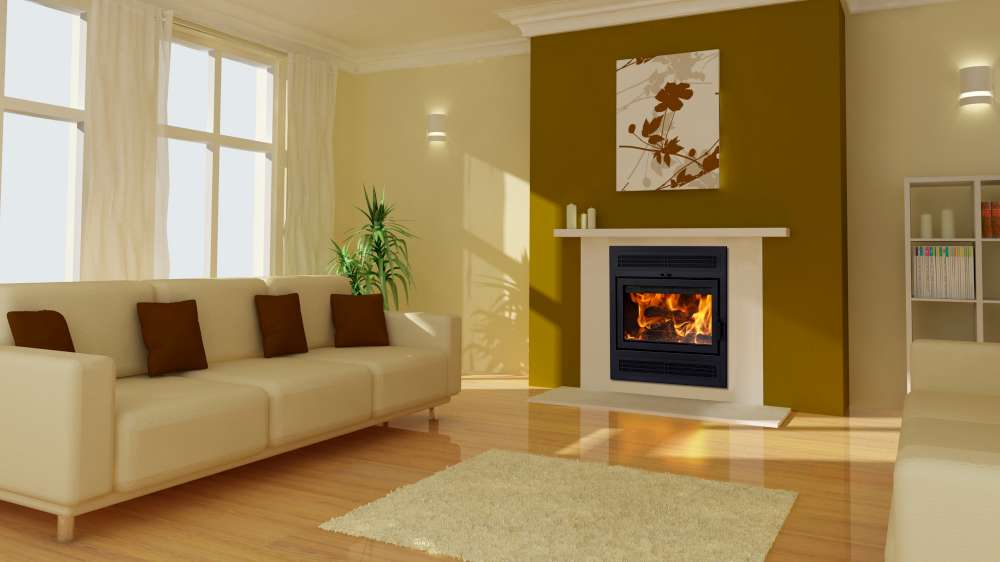 Supreme Astra TD Zero-clearance wood fireplace with emission as low as 1,8g/h