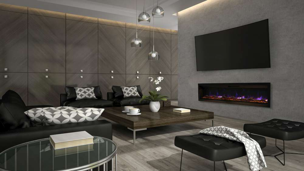 Ambiance In Wall Electric Fireplace