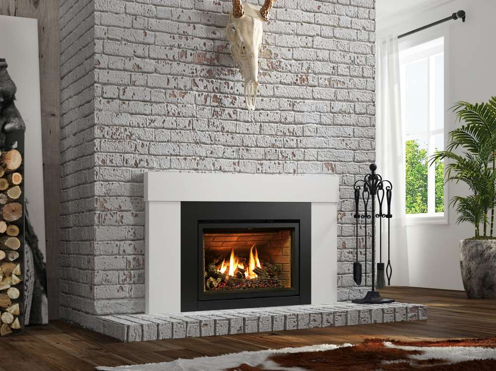 Gas inserts. The convenience of gas and the beauty of masonry.