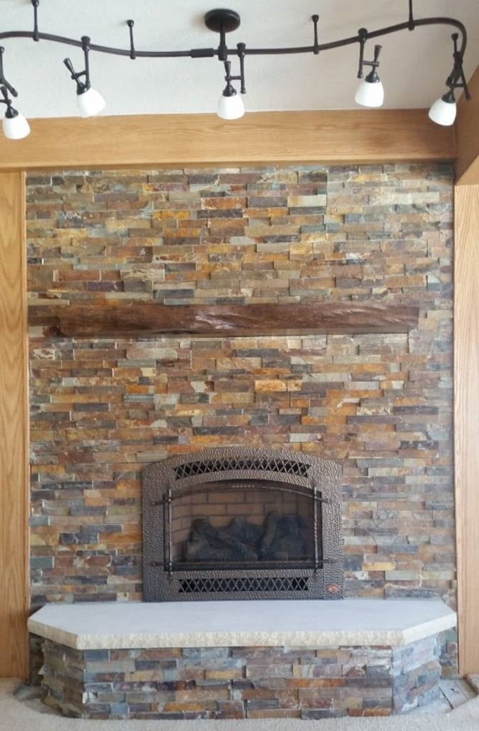 How To Reface A Fireplace We Love Fire, Can I Cover My Brick Fireplace With Stone