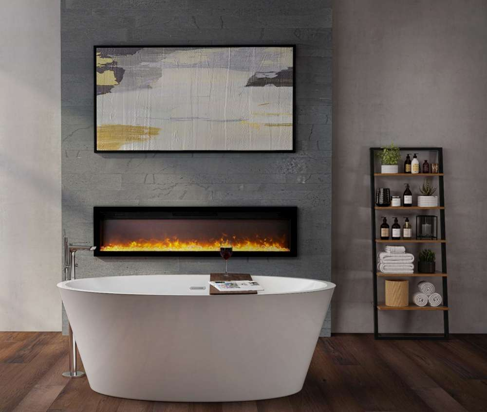 Ambiance IW50 Electric Fireplace bathroom installation