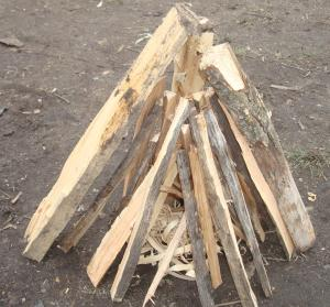 Tee pee fire method