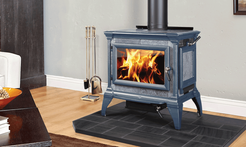 How can I stop smoke filling the room when I open the door on my wood burning stove?