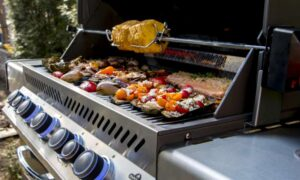 How to cook using a barbecue rotisserie kit
