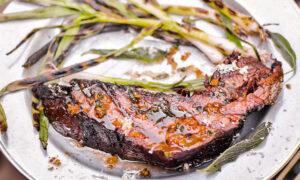 Chef Steven Raichlen's Brisket 'Steaks' with Shallot Sage Butter