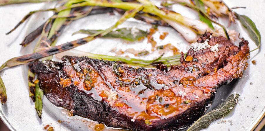 Steven Raichlen's Brisket 'Steaks' with Shallot Sage Butter