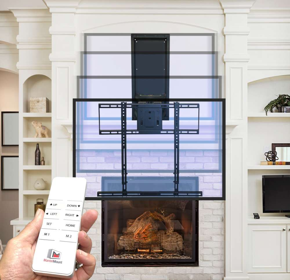 Mantelmount automated tv mount over fireplace MM860 remote, click of a button, Can I mount my television over the fireplace?