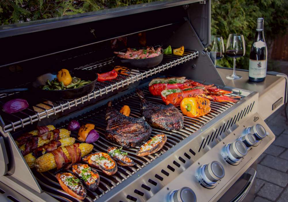 Delicious food on grill for social distance BBQ. How to host the best social distancing summer BBQ ever!