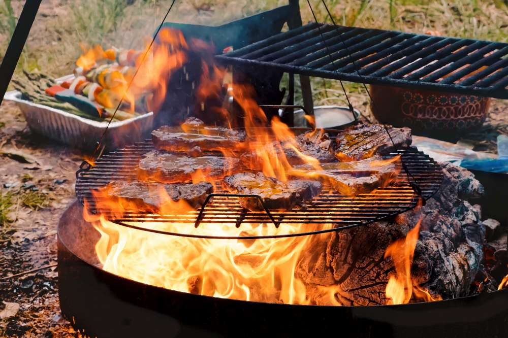 What about a feast in the woods? How to cook on your outdoor fireplace? Cooking on your firepit at home or camping!