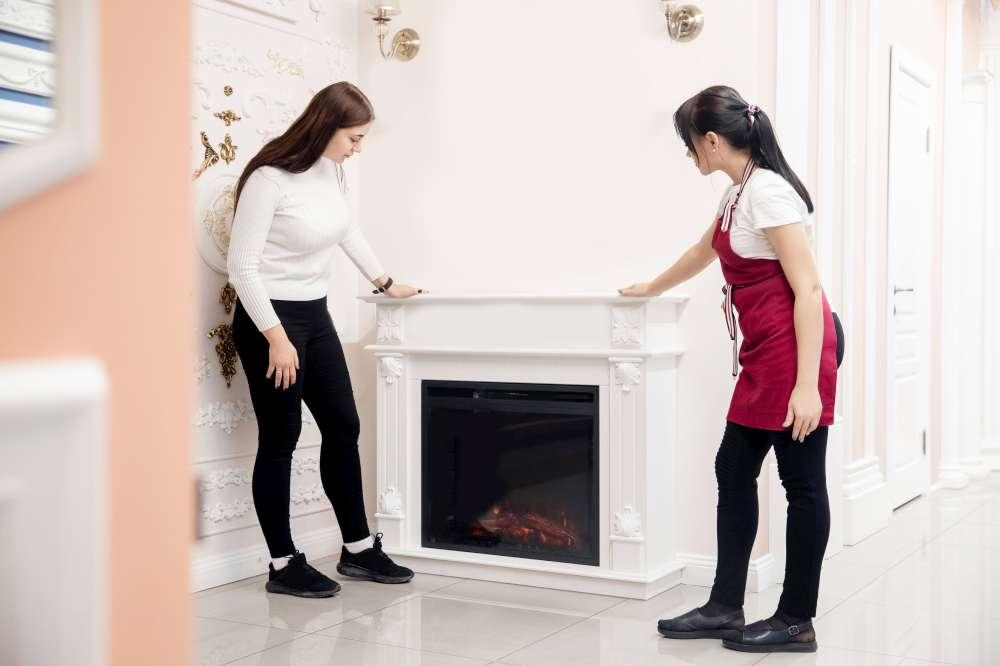 2 Women Fireplace Shopping