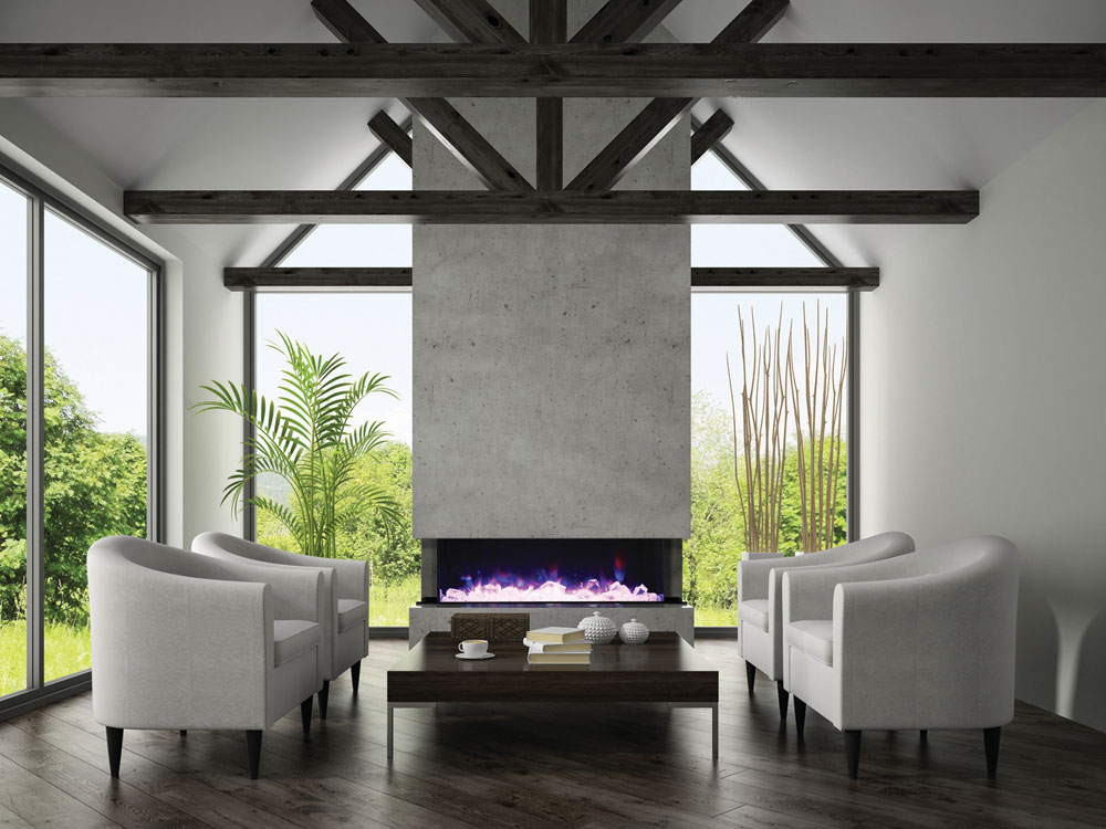 Luxurious Amantii TRU-View XL electric fireplace! Are electric fireplaces expensive to run?