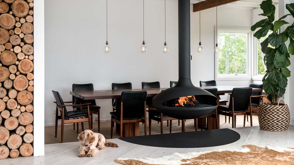 Aether Fairlight Suspended Fireplace
