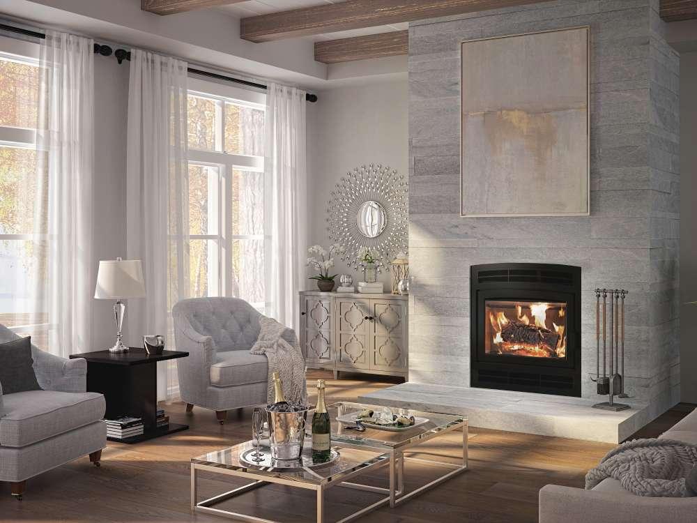 Ambiance woodburning Elegance 40 fireplace. What size fireplace do I need?