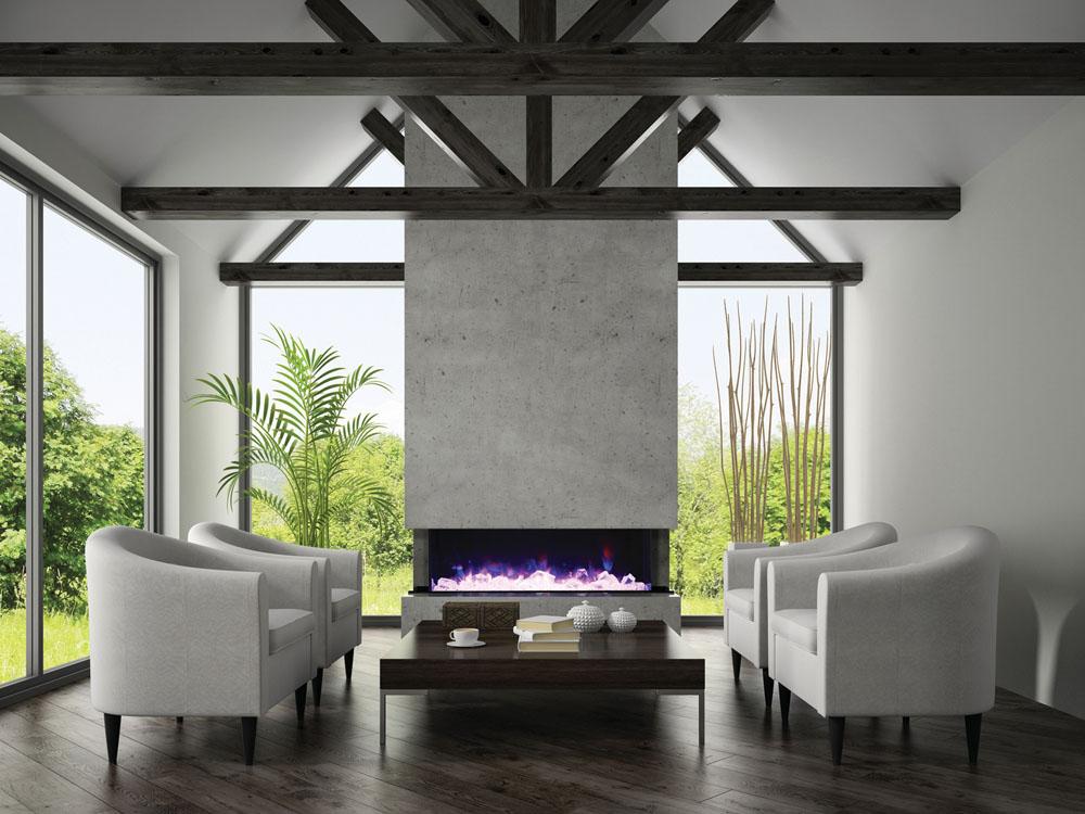 Beautiful Amantii TRU-View-XL linear Electric Fireplace. What size fireplace do I need?